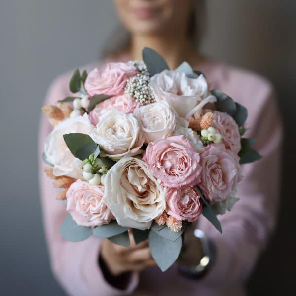 Букет невесты с добавлением сухоцветов №956 - Фото 1