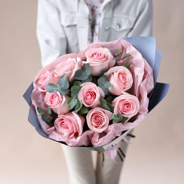 Букет из Роз с Эвкалиптом №838 - Фото 3