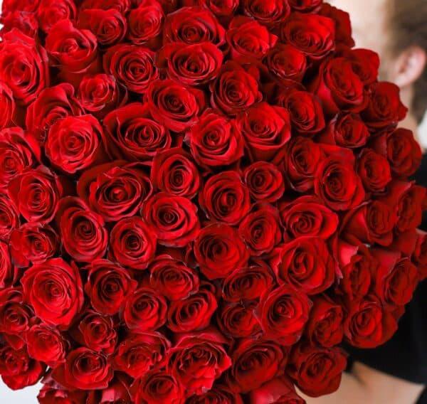 Монобукет из 101 Розы Эквадор №1143 - Фото 16