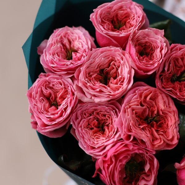 Монобукет из пионовидных премиальных Роз №844 - Фото 2