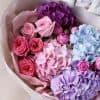 Сборный букет с гортензиями и пионовидными розами №834 - Фото 6