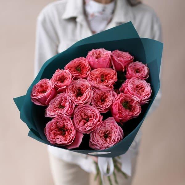 Монобукет из пионовидных премиальных Роз №843 - Фото 3
