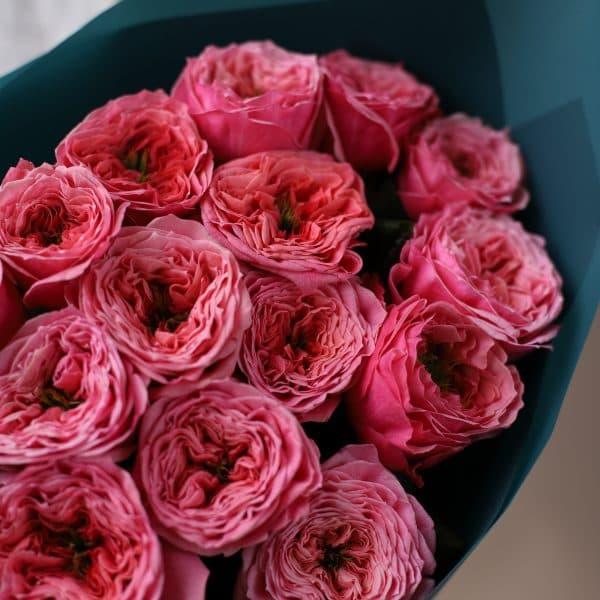 Монобукет из пионовидных премиальных Роз №843 - Фото 4