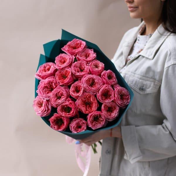Монобукет из пионовидных премиальных Роз №842 - Фото 3