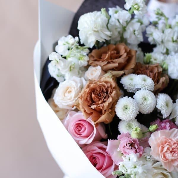 Сборный букет с винтажной розой №845 - Фото 2