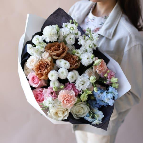Сборный букет с винтажной розой №845 - Фото 3