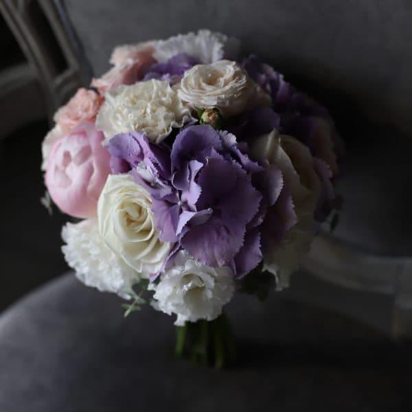 Свадебный букет славандовой гортнзией №978 - Фото 1