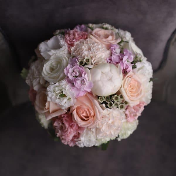 Свадебный букет в розово – лавандовой гамме №977 - Фото 50