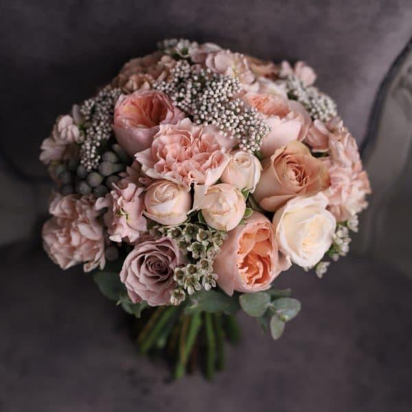 Свадебный букет с пионовидными розами джульетта №976 - Фото 3