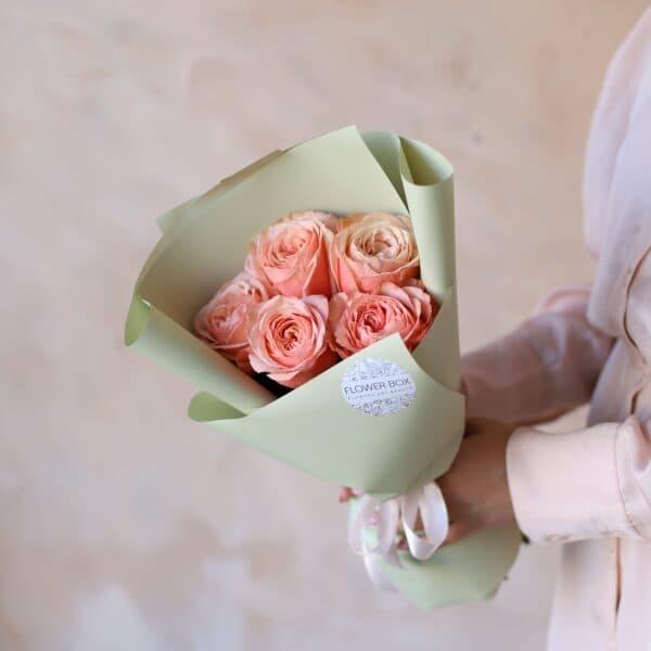 Монобукет из пионовидных роз №1158 - Фото 1