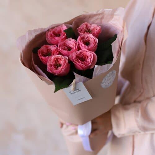 Монобукет из садовой розы №1150 - Фото 4