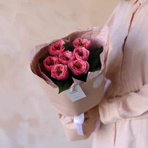 Монобукет из садовой розы №1150 - Фото 3