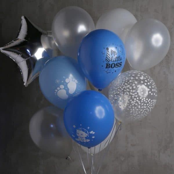 Композиция из 13 шаров и 1 звезды №594 - Фото 76