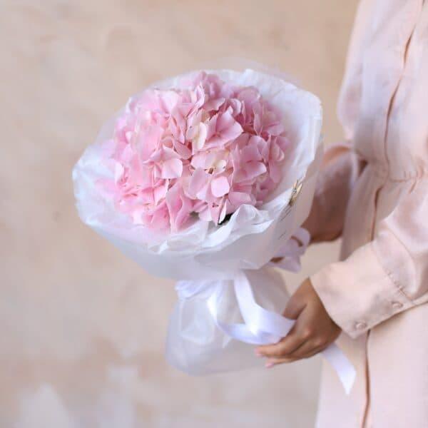 Розовая гортензия в упаковке №1161 - Фото 1