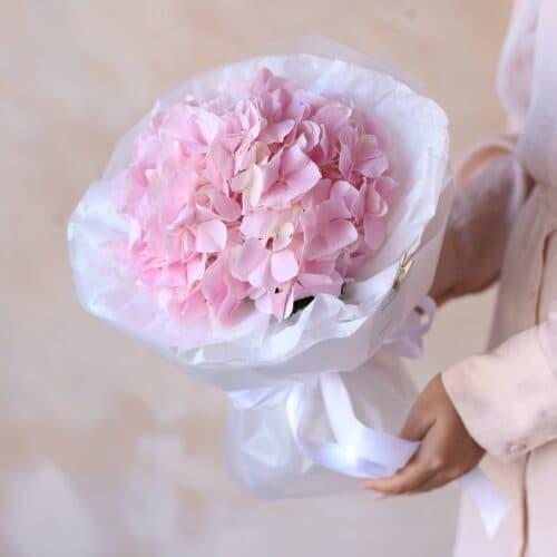Розовая гортензия в упаковке №1161 - Фото 8