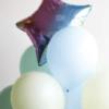 Связка из шариков с фольгированной звездой  №293 - Фото 5