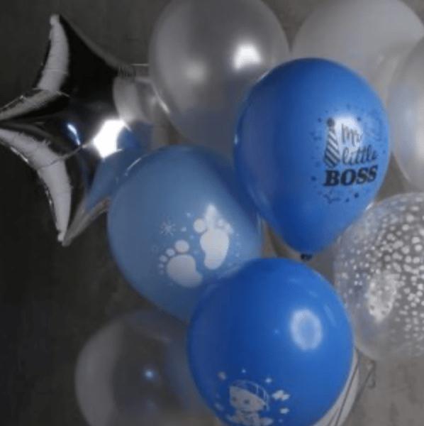 Композиция из 13 шаров и 1 звезды №594 - Фото 2