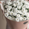 Букет из 11 хризантем сорта Кокос №668 - Фото 4